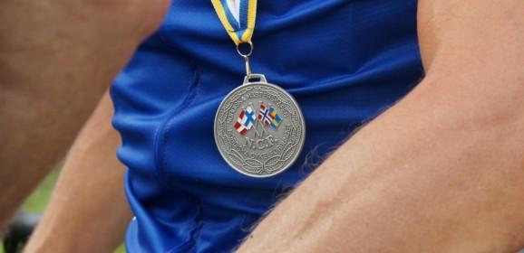 Medalje til Niels Marquard ved Nordisk Mesterskab i landevejscykling.